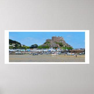 Gorey och Mont Orgueil slott Poster