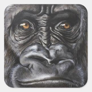 Gorilla Fyrkantigt Klistermärke