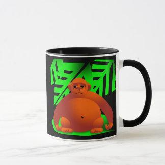 Gorilla i djungel mugg