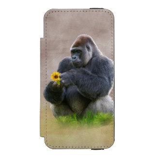 Gorilla och gultdaisy