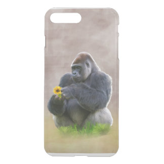 Gorilla och gultdaisy iPhone 7 plus skal