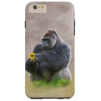 Gorilla och gultdaisy tough iPhone 6 plus skal