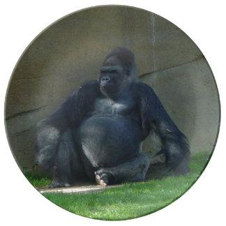 Gorilla Porslinstallrik