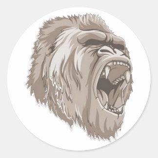 gorilla runt klistermärke