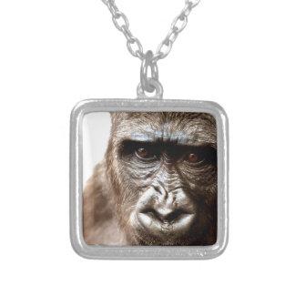 gorilla silverpläterat halsband