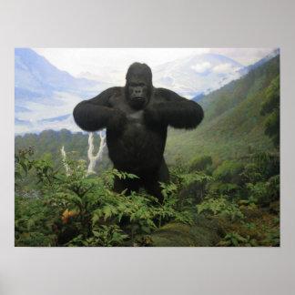 Gorillaaffisch Print