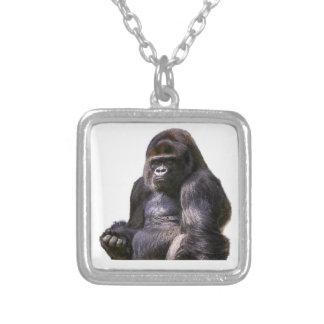Gorillaapaapa Silverpläterat Halsband