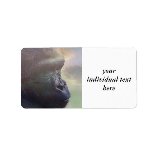 Gorilladagdröm Adressetikett
