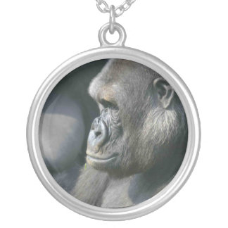 Gorillahalsband Silverpläterat Halsband