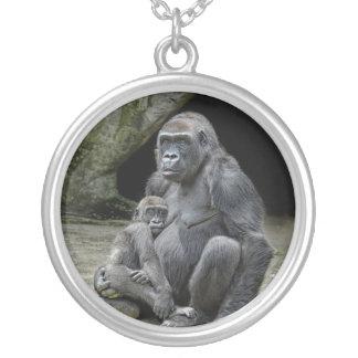 Gorillakramhalsband Silverpläterat Halsband
