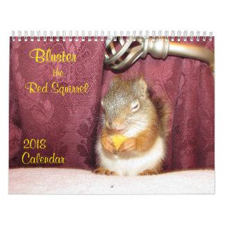 Gorma den röda kalendern för ekorre 2018 kalender
