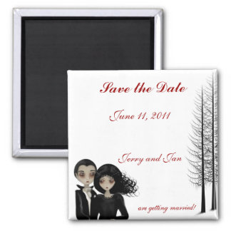 Goth bröllop spara datum magnet