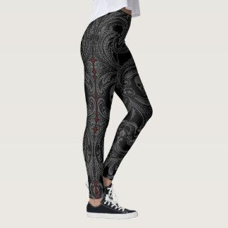 Goth gråttprydnad med skallen leggings