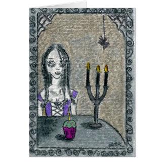 Goth Halloween Hälsningskort
