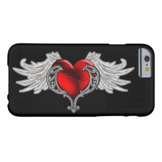 Goth hjärta med ängel påskyndar fodral för iPhone Barely There iPhone 6 Fodral
