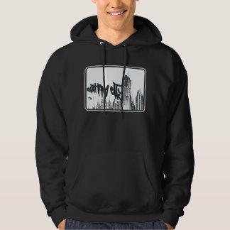 Gotham stadsklistermärke hoodie