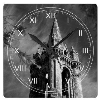 Gotisk arkitektur fyrkantig klocka