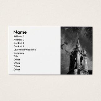 Gotisk arkitektur visitkort