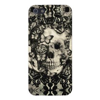 Gotisk blom- snöreskalle för Victorian iPhone 5 Skal