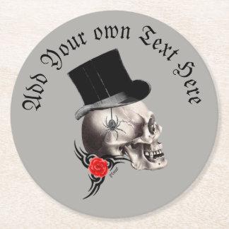 Gotisk brudgumskalle underlägg papper rund