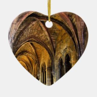 Gotisk cloister av den Lisbon domkyrkan Julgransprydnad Keramik