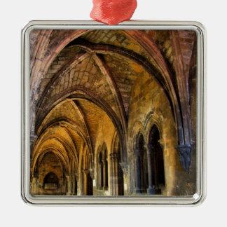 Gotisk cloister av den Lisbon domkyrkan Julgransprydnad Metall