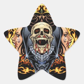 Gotisk design för döskallar, för vampyrer och för stjärnformade klistermärken