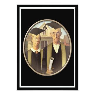 Gotisk doktorand- Cameo för amerikan 12,7 X 17,8 Cm Inbjudningskort