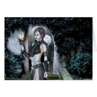 Gotisk flickanatt Magick Hälsningskort