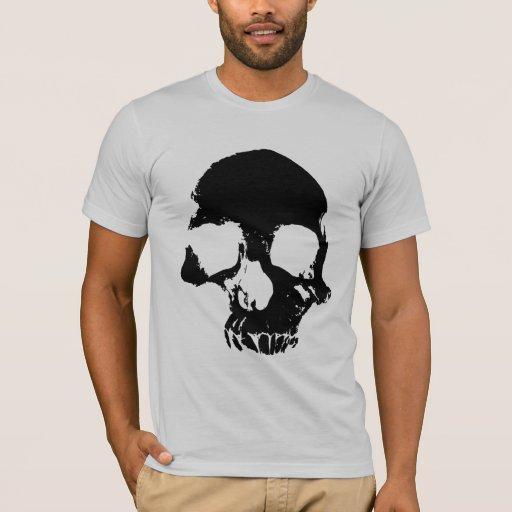 Gotisk grå manar för läskig skallecoola skjorta tee shirts