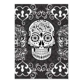 Gotisk Grunge för dekorativ vit för 12,7 X 17,8 Cm Inbjudningskort