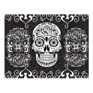 Gotisk Grunge för dekorativ vit för Vykort