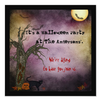Gotisk Halloween för natthimmel inbjudan