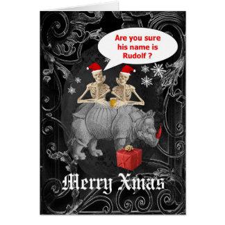 Gotisk jul för rolig ren hälsningskort