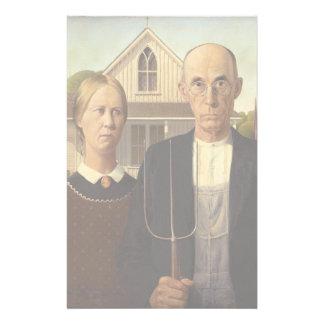 Gotisk konstmålning för anslags- Wood amerikan Brevpapper
