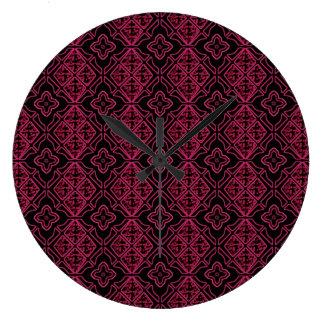 Gotisk lilasvart för målat glass stor klocka