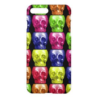 Gotisk ljusa färger döskallarCollage Halloween iPhone 7 Plus Skal