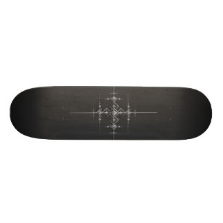 Gotisk metallisk modell old school skateboard bräda 18 cm