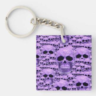 Gotisk purpurfärgad döskallar