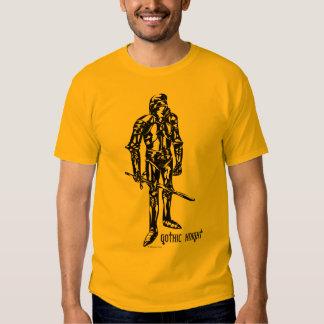 Gotisk riddaresvart t shirts