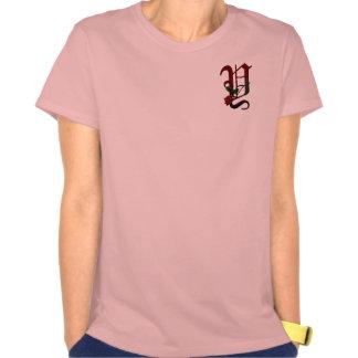 Gotisk rosa Monogram Y T Shirts