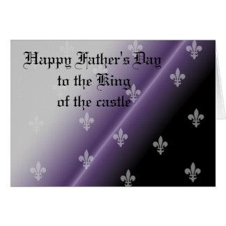 Gotisk royalty för lycklig fars dag hälsningskort