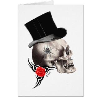 Gotisk skalle- och rotatueringstil hälsningskort