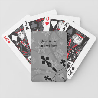 Gotisk snöflingor och korvinterplats spelkort