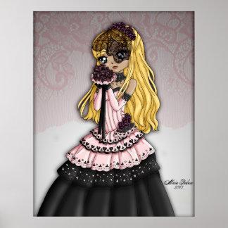 Gotisk snörebrud - blondin poster