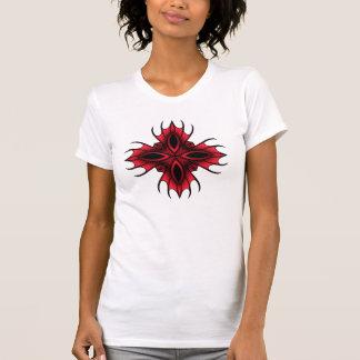 Gotisk spöklik kor i rött tee shirts