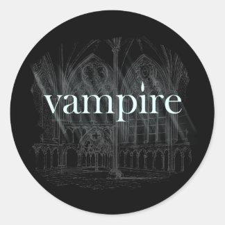 Gotisk vampyr runt klistermärke