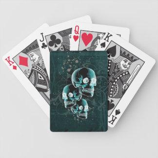 Gotisk Victoriandöskallardesign Spelkort