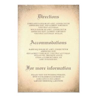 Gotisk vintage bröllop specificerar - information 8,9 x 12,7 cm inbjudningskort