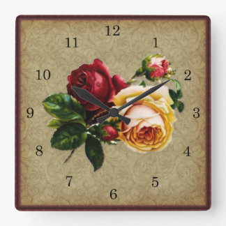 Gotisk vintage steg fyrkantig klocka